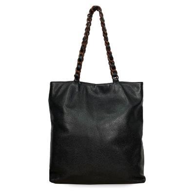 chain pointed shopper bag